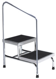 Brewer Bariatric Step Stool with Handrail